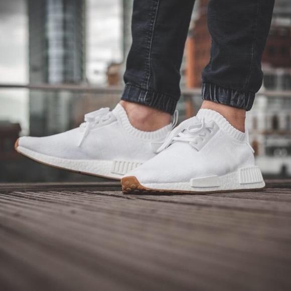 Adidas NMD R1 Primeknit White Men's Size 8.5